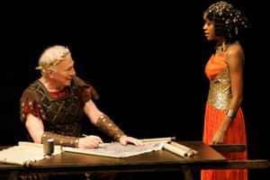 Christopher Plummer and Nikki M James at Stratford Shakespeare festival, Ontario.