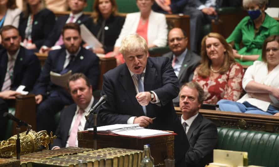 Boris Johnson the house of commons