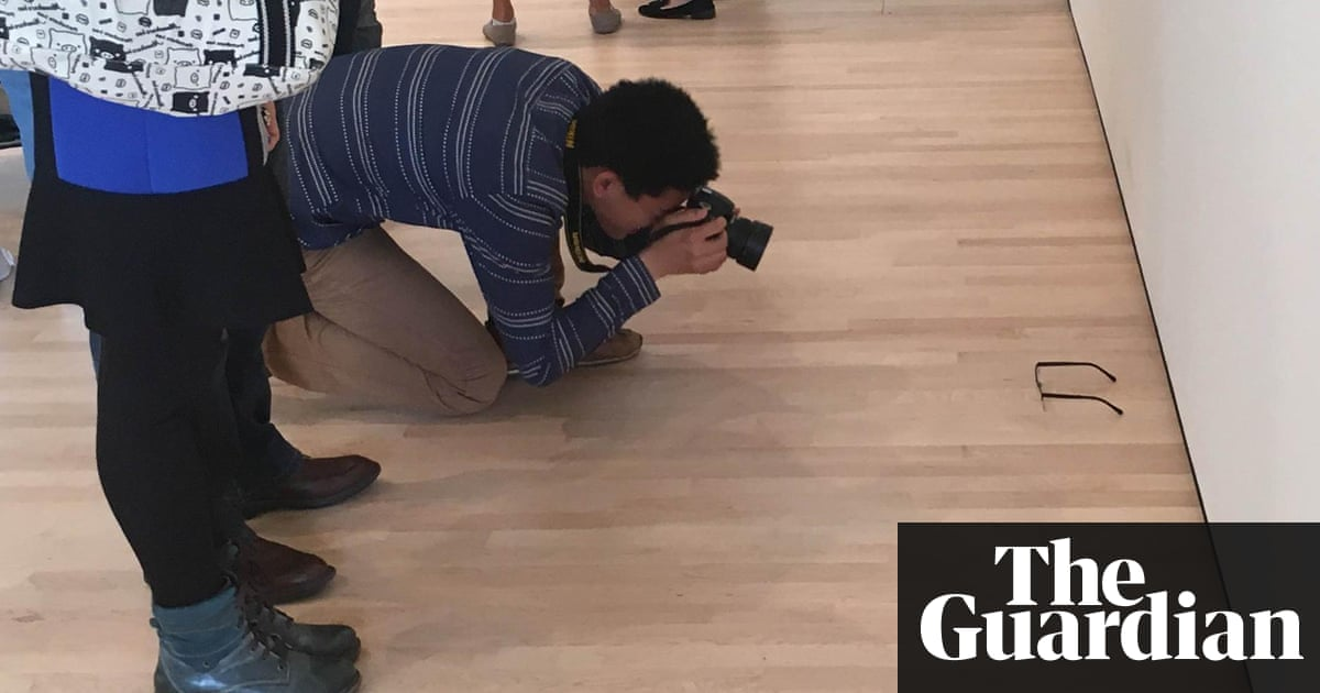 Pair Of Glasses Left On Us Gallery Floor Mistaken For Art