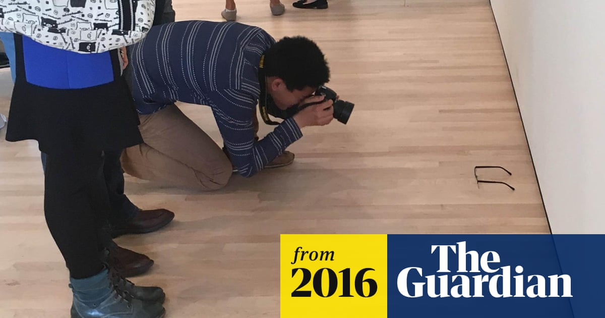 5a839a3307617 Pair of glasses left on US gallery floor mistaken for art | US news ...