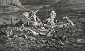 detail from Gustave Doré's illustration of Dante's Inferno, here showing the Fifth Circle, where the wrathful are punished.