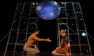 Bridges the mundane and the great unknown … Rachel Fullegar and Hannah Thompson in Stella.