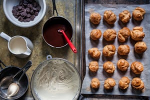 Choux-in: beautifully simple chocolate profiteroles.