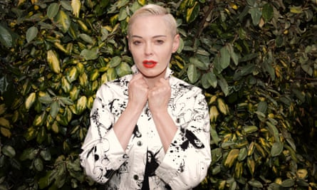 Actress, musician and feminist campaigner, Rose McGowan, photographed at the Barbican, London, 15th May 2019