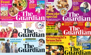 Guardian front pages.
