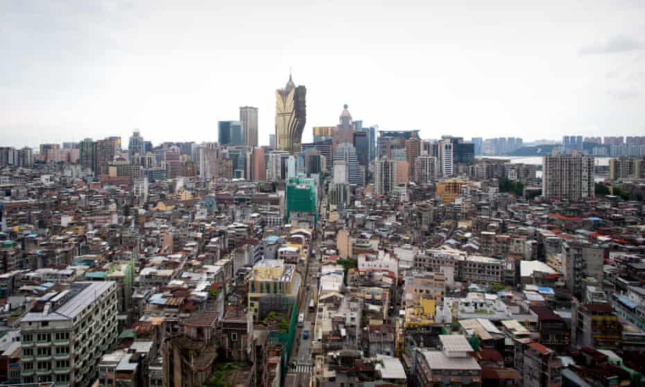 Macau's skyline contrasts old and new