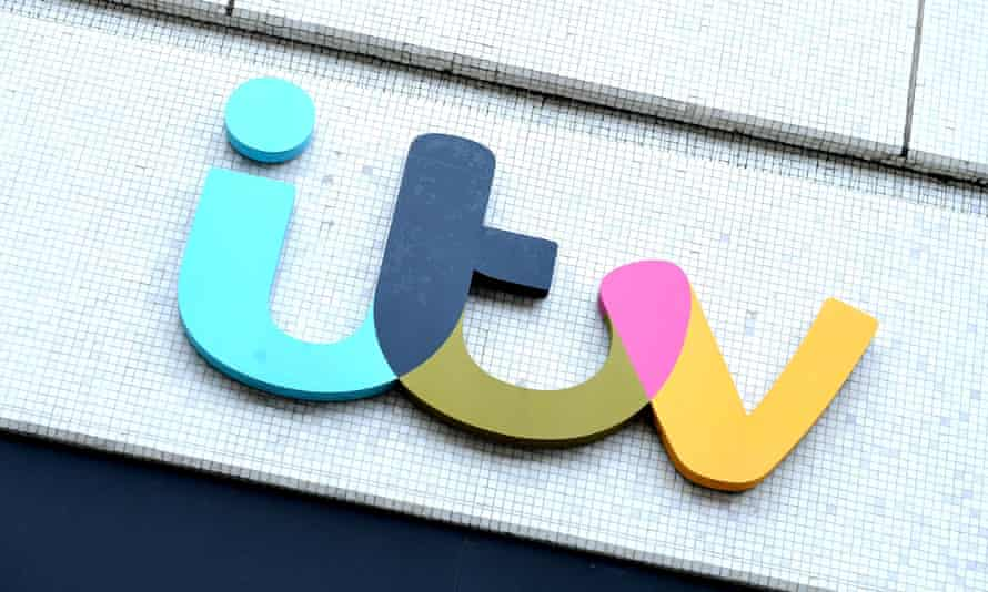 The ITV logo on the London Studios in London.