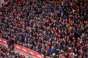 Middlesbrough fans as the second half gets underway.