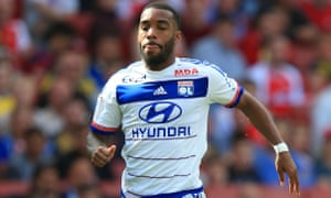 Alexandre Lacazette is in line to join Arsenal after scoring 37 times in 45 matches for Lyon last season.