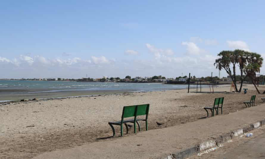 A deserted Siesta beach in Djibouti city after the government banned mass gatherings to prevent the spread of coronavirus.