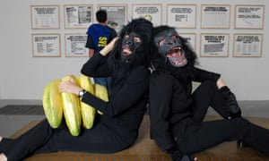 The Guerilla Girls, whose art focuses on the under-representation of female artists.