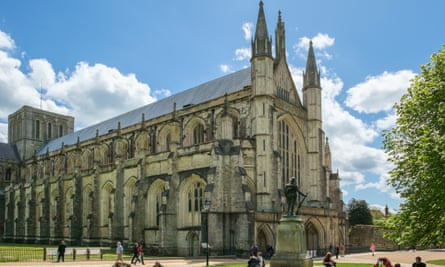 Winchester Cathedral in Hampshire.
