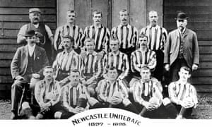 Newcastle United's 1897-98 team 'were practically robbed of an advance they had secured by merit'.