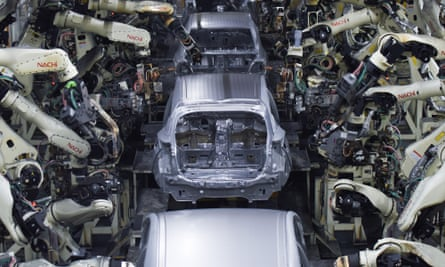 Toyota's Prius production line in Aichi, Japan