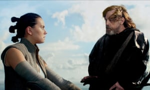 'So much more' ... Daisy Ridley as Rey and Mark Hamill as Luke in Star Wars: The Last Jedi.