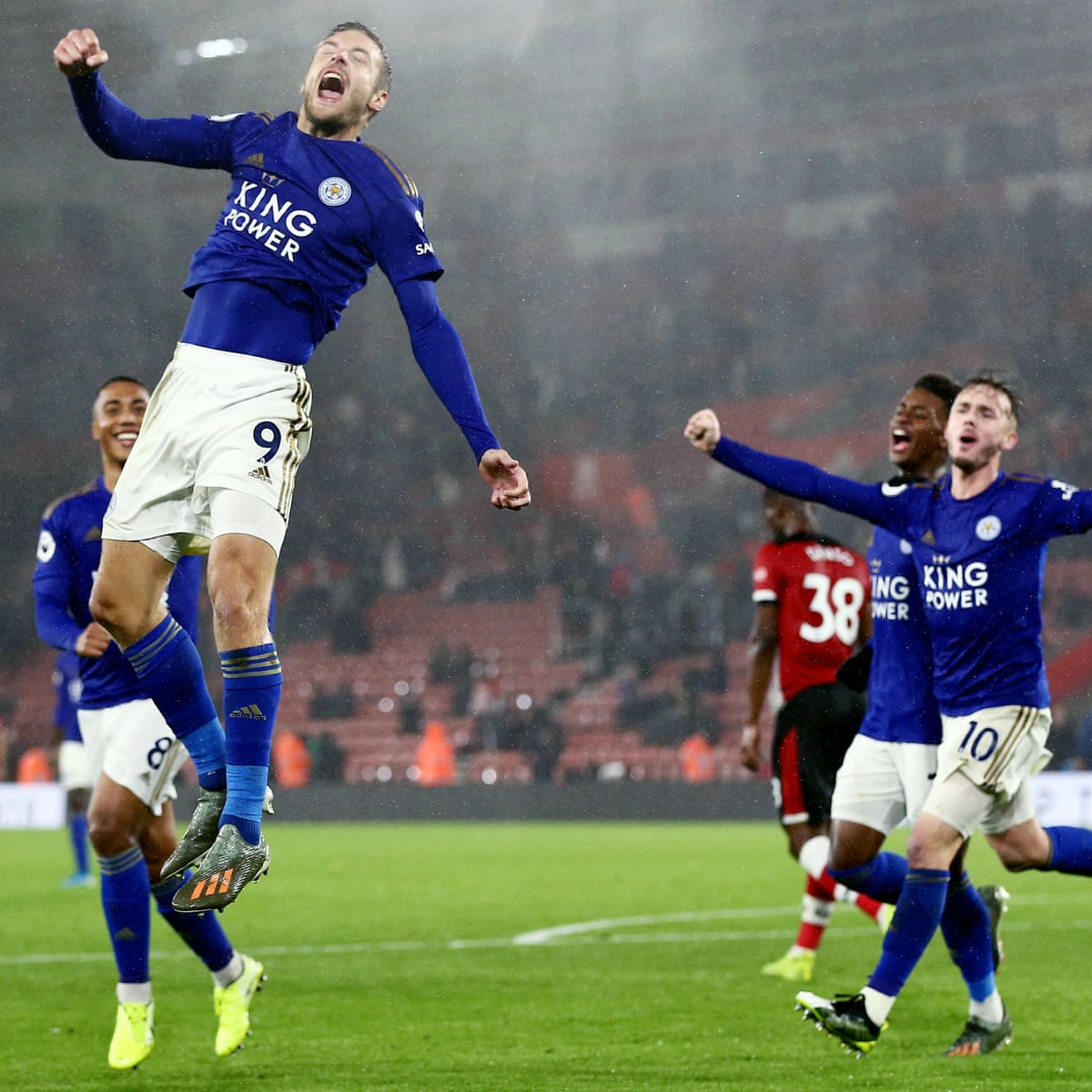 Vardy And Perez Hat Tricks See Leicester Smash Nine Against Southampton Premier League The Guardian