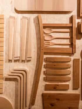 Flatpack furniture and kitchen utensils