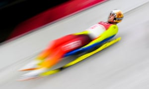 Germany's Johannes Ludwig competes in the men's luge singles run 2 during the PyeongChang 2018 Winter Olympic Games.