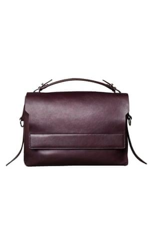 Burgandy leather bag