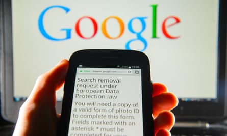 right to be forgotten request to google