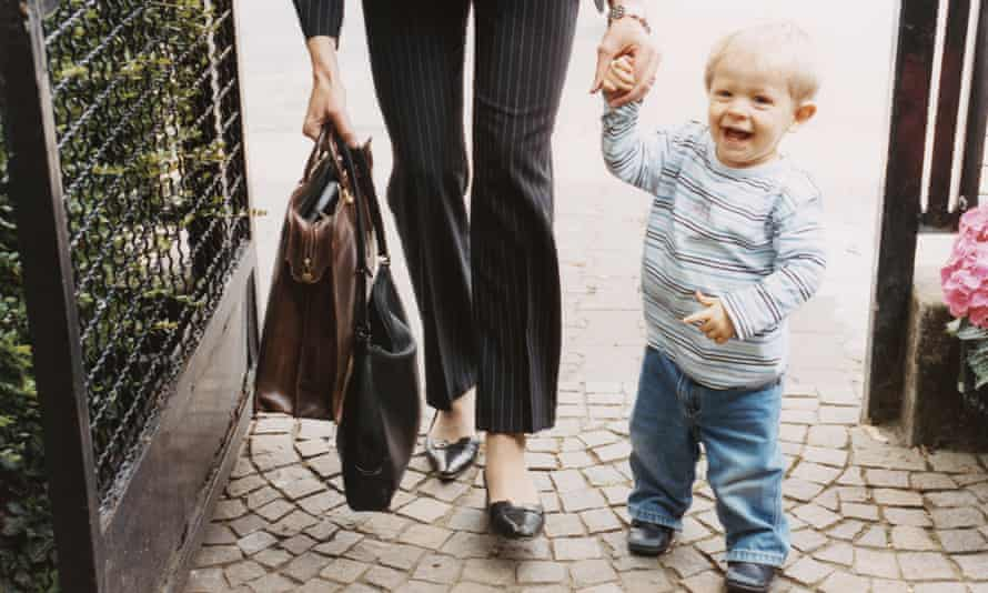 Working mum with toddler