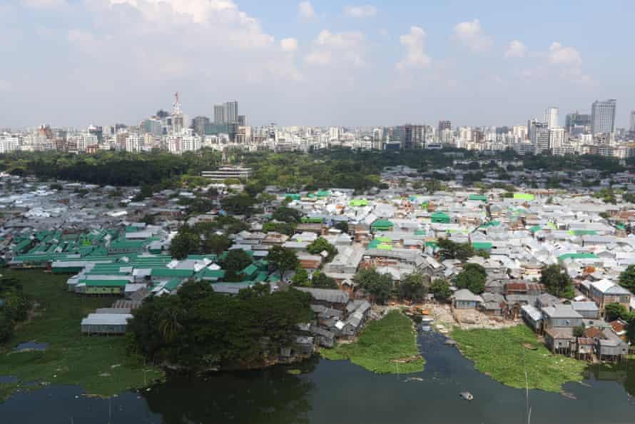 Korail slum in Gulshan, Dhaka