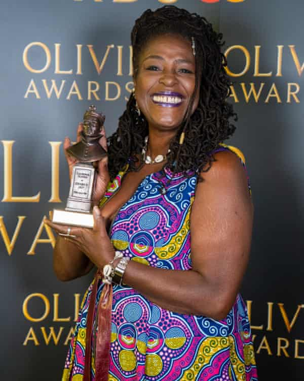 'It's a joy' ... Sharon D Clarke poses with her award for best actress in Death of a Salesman during the Olivier awards 2020.