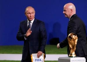 Gianni Infantino and Vladimir Putin
