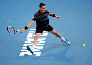 Agut, who is seeded No 22, breaks Murray in the ninth game of the opening set. Agut then holds serve to close the set 6-4