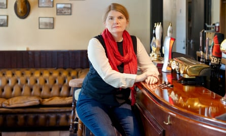 Cathy Rentzenbrink, the author, at the Stag Hunt Inn in Ponsanooth, Cornwall