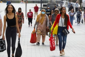 Shoppers at Primark and other stores around the Bullring shopping centre in Birmingham as clothes retailers reopen after a relaxation of some lockdown restrictions during the Covid-19 pandemic.
