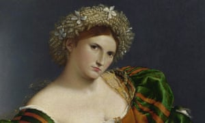 Detail from Portrait of a Woman inspired by Lucretia, by Lorenzo Lotto