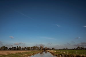 An irrigation channel on Trevor Hosie's farm near Tallygaroopna