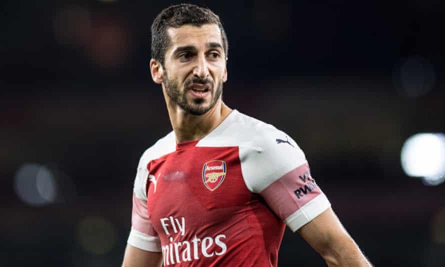 Henrikh Mkhitaryan of Arsenal will reportedly miss Arsenal's Europa League tie in Azerbaijan on Thursday.