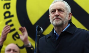 Labour Leader Jeremy Corbyn addresses a demonstration against nuclear weapons this year.