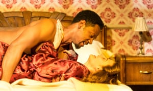 Explores a scarred, racially divided America … Tory Kittles and Emma Paetz in 8 Hotels.