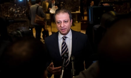 Preet Bharara met with Donald Trump late last year and told reporters afterward that he had 'agreed to stay on'.