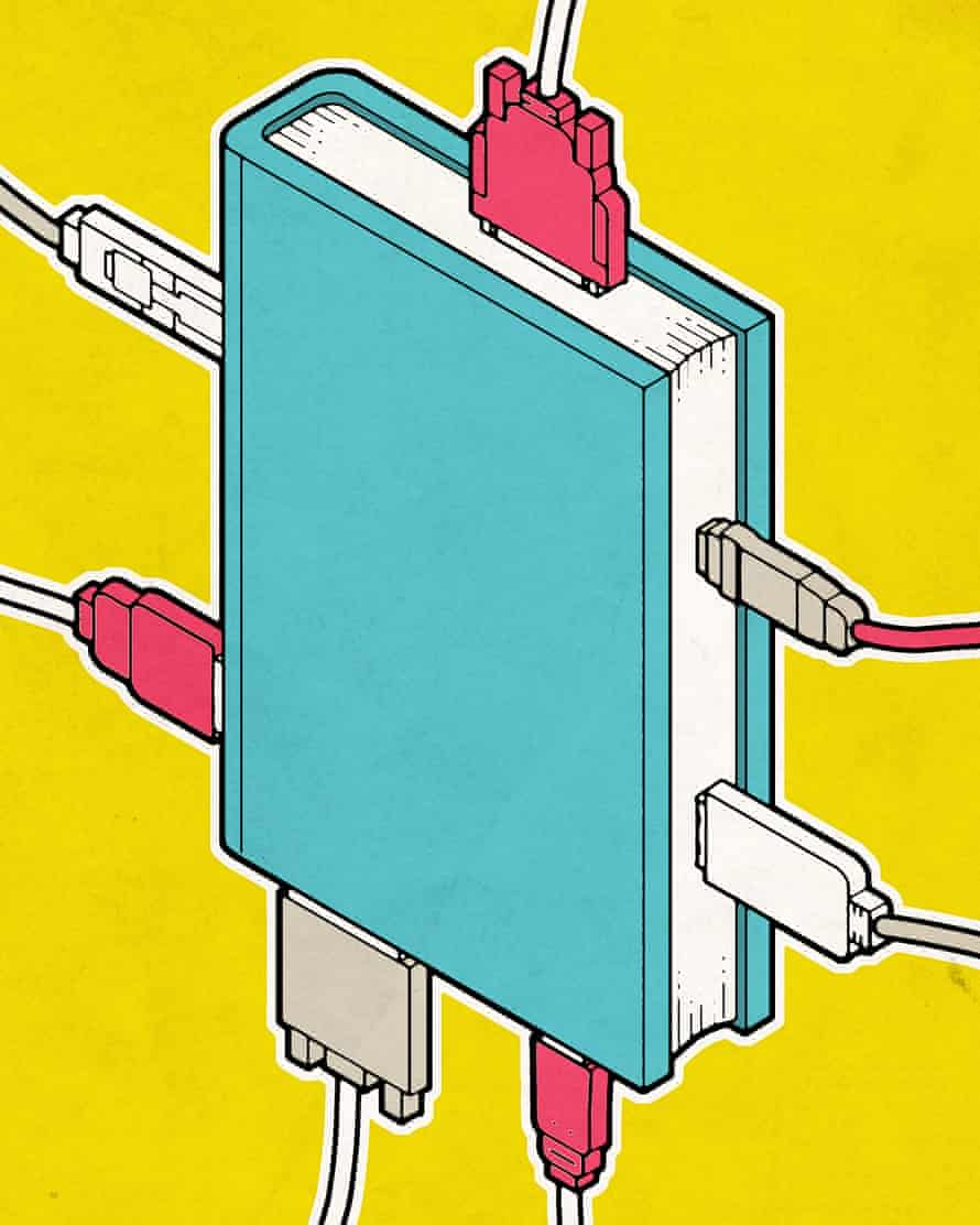 Illustration: book with USB ports