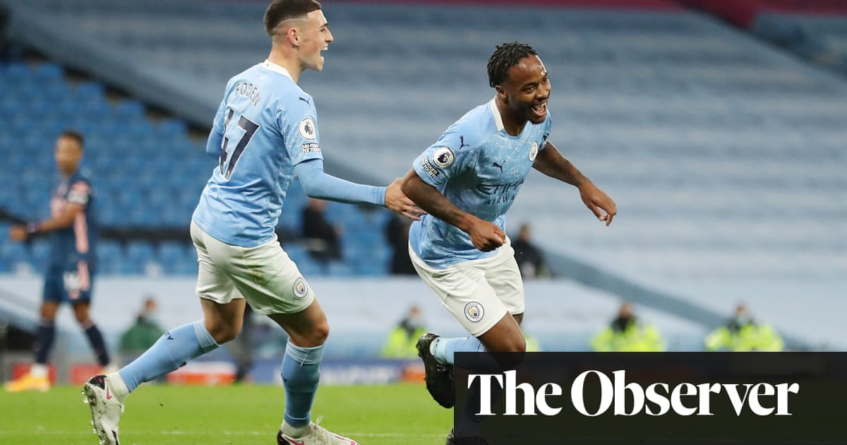 Raheem Sterling goal gives Manchester City victory over Arsenal
