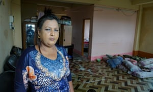 Ma Win, who claims her Yangon home was raided by nationalists looking for Rohingya people.