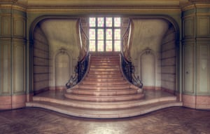 An abandoned house in Belgium captured by 'Urban photographer' Roman Robroek. See Masons copy MNABANDONED: This stunning series of pictures reveal the interiors of beautiful but abandoned buildings across Europe. The images show crumbling frescoes inside deserted villas, overgrown palace conservatories and winding castle staircases. 'Urban photographer' Roman Robroek spent five years scouring the continent to find and photograph the grandest examples of forgotten architectural beauty.
