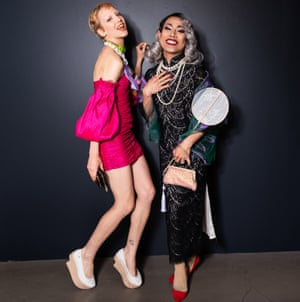 Hayley Van Ree and Scarlett So Hung Son  at the National Gallery of Victoria's fashion exhibition Collecting Comme