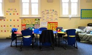 empty schoolroom