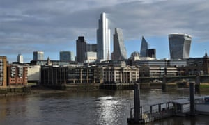 Daytime view of the City of London skyline.