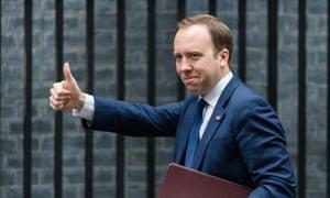 Matt Hancock attends the first Cabinet meeting in Downing Street.