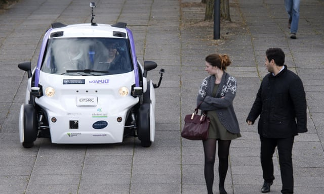 Self-driving car tested for first time in UK in Milton Keynes
