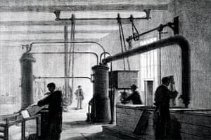 Ice production in the 19th century.