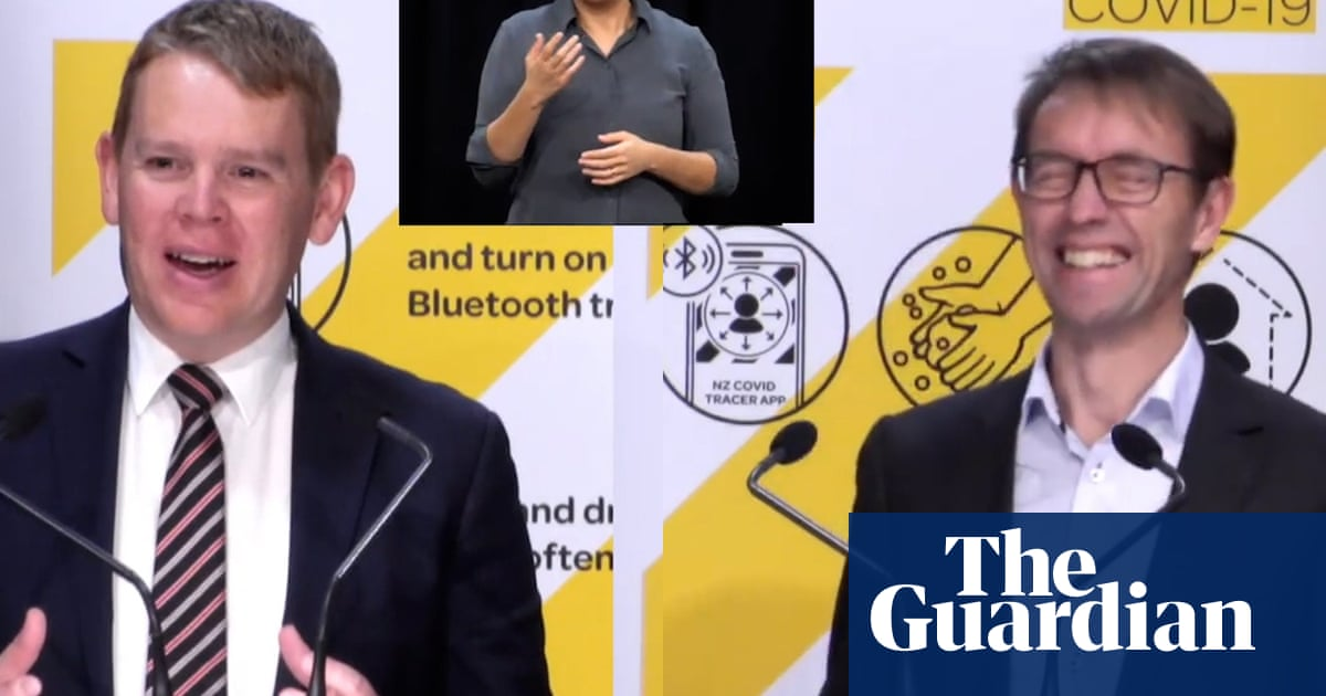 'Go out and spread their legs': NZ Covid minister delivers saucy advice – video
