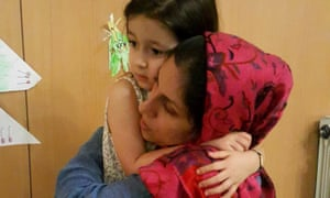 Nazanin Zaghari-Ratcliffe with her daughter before returning to prison