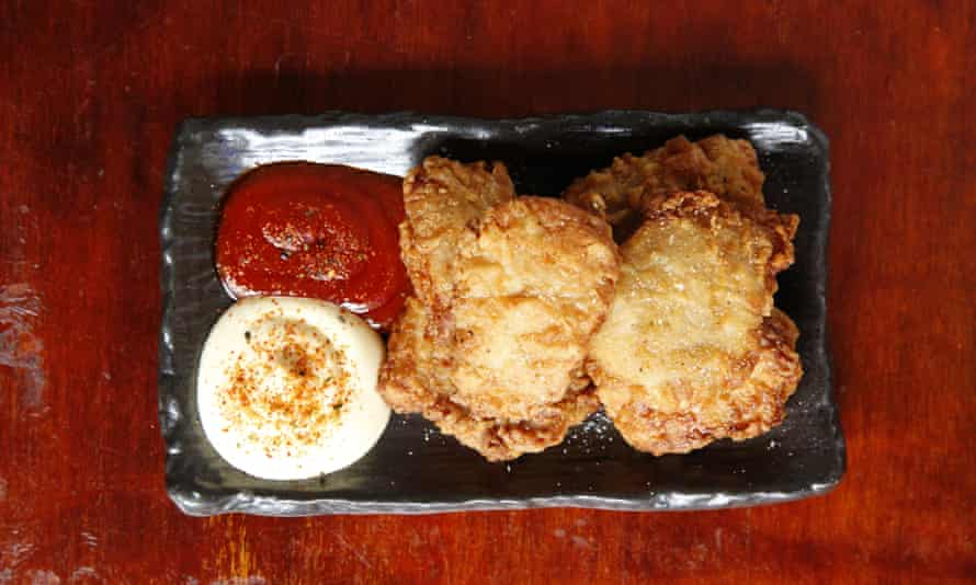 'A ludicrously compelling combination of crispy and salty, with crumbly bits that cannot escape': chicken karrage.